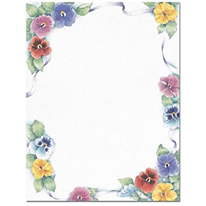 Amazon pretty pansies spring flowers floral laser inkjet pretty pansies spring flowers floral laser inkjet computer printer paper mightylinksfo