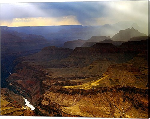 Grand Canyon Canvas Art Wall Picture, Gallery Wrap, 20 x 16
