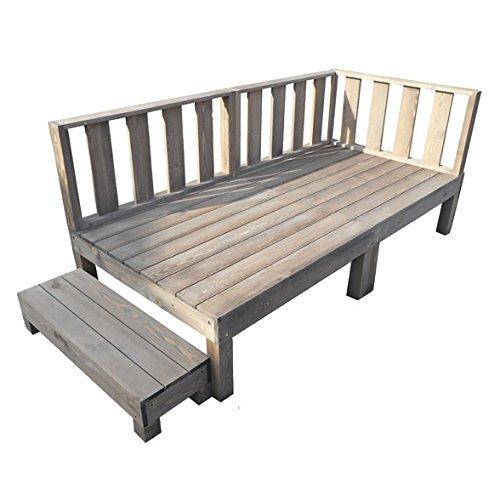 igarden アイガーデン ウッドデッキ6点セットダークブラウン アイガーデンオリジナル天然木製ウッドデッキ、ウッドデッキセット、木製デッキ、縁台 B01N5DHGCX