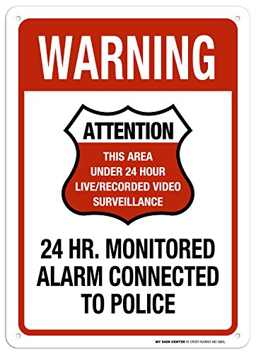 24 Hour Video Surveillance Connected to Police Sign - 10