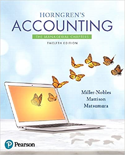 Horngrens Financial & Managerial Accounting 5th Edition Pdf