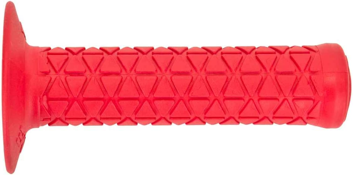 AME TRI RED FLANGED BMX BICYCLE SCOOTER GRIPS