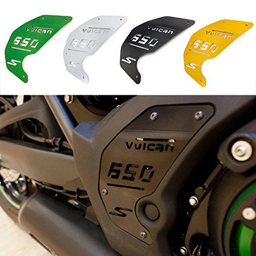 FATExpress Motorcycle CNC Aluminum Decoration Engine Side Cover Plate for 2015-2019 Kawasaki Vulcan S ABS VN EN 650 EN650 2016 2017 2018 15-19(Green)