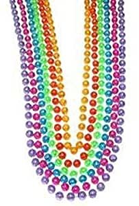 "Mardi Gras, Assorted Clear AB Beads, 12 mm, 42"", 1 Dozen (12pcs)."