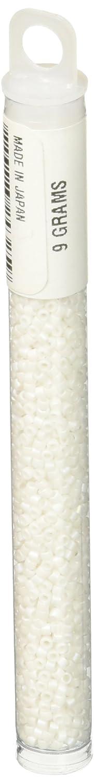 Miyuki DB351 Delica Seed Bead Opaque Matte 11/0, Chalk White 14SD112-M