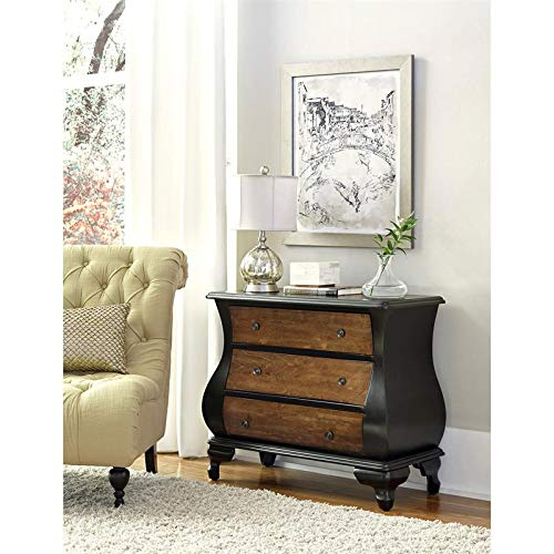 (Pulaski DS-P050208 Two Tone Bombe Drawer Chest, Brown)