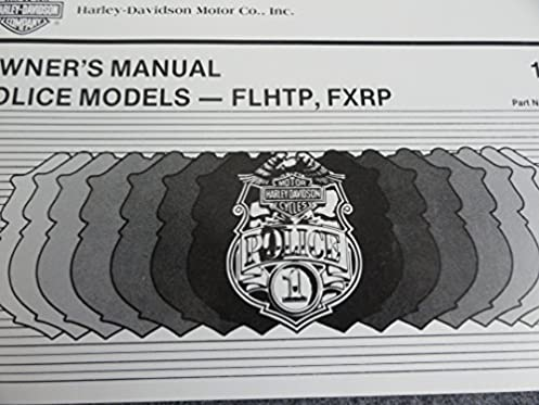 1987 harley davidson police motorcycle owners manual flhtp fxrp rh amazon com 2008 Harley-Davidson FLHTP 2008 Harley-Davidson FLHTP