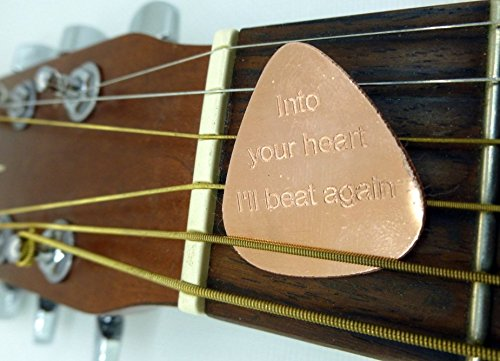 Personalized Guitar Pick - Engraved copper Usable Guitar...