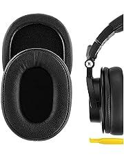 Geekria QuickFit Proteïne Lederen Vervanging Oorkussens voor Audio Technica ATH-M50X, ATH-M50XBT, ATH-M50, ATH-M40X, ATH-M30, ATH-M20, AR5BT, AR5IS Hoofdtelefoon Oordoppen, Headset Oorkussen (zwart)