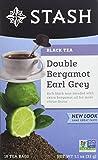Stash Tea Double Bergamot Earl Grey Tea 18 Count Box of Tea Bags Individually Wrapped in Foil (Pack of 6), Full Caffeine Tea, Black Tea with Bergamot, Enjoy Hot or Iced