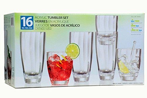 16-piece-clear-acrylic-tumbler-set