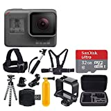 #5: GoPro HERO5 Black + SanDisk Ultra 32GB Micro SDHC Memory Card + Hard Case + Chest Strap Mount - Head Strap Mount + Flexible Tripod + Extendable Monopod + Floating Handle + Great Value Bundle