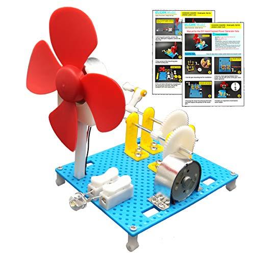 EUDAX DIY Dynamo Lantern Educational STEM Building Toy, Hand Cranked Power Generator,Generators Science Kit, Light Bulb Science Experiments Kits for Kids Age 8+