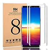 Galaxy Note 8 Screen Protector, Full Coverage Scratch Proof 3D Curved Edge Screen Protector, HD Clear Tempered Glass Film Screen Protector For Samsung Galaxy Note 8 [2-Pack] (Note8)