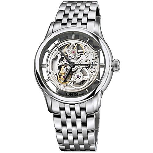 Oris-Mens-Artelier-405mm-Steel-Bracelet-Case-Automatic-Skeleton-Dial-Analog-Watch-73476844051MB