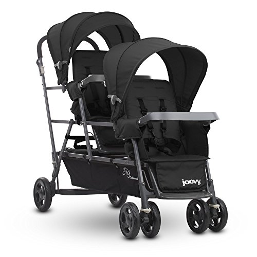 Side Caboose Door - Joovy Big Caboose Graphite Stand On Triple Stroller, Black