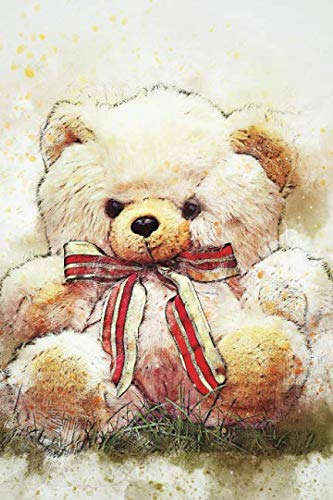 (Watercolor Teddy Bear: Blank Lined Notebook, Journal or Diary)