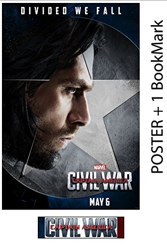 Bucky - Captain America: Civil War - Movie Poster, Glossy Photo Paper Thick 8mil + Free BookMark