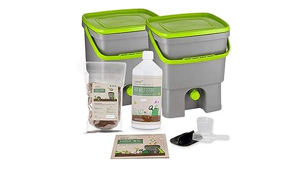 Set de cubo de compostaje Bokashi que incluye 1 litro de ...