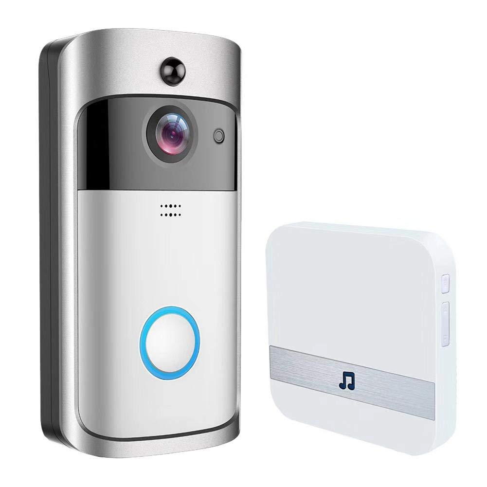 Smart Video Doorbell,720P HD Wifi Security Camera with 8G Memory Storage,Two Way Intercom Doorbell with Responser,App Control for IOS and Android