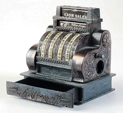 Antique Cash Register Die Cast Metal Collectible Pencil Sharpener