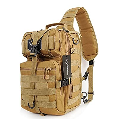 FUNANASUN Tactical Sling Backpack Bag Military Molle Assault Pack Rucksack Daypack Outdoors Camping Hiking Hunting
