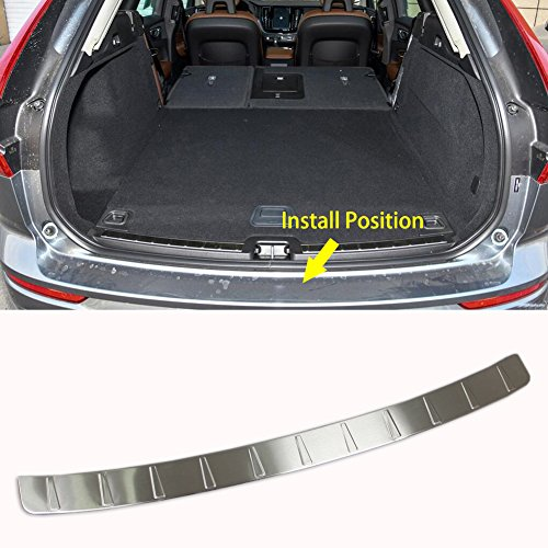 Rqing For Volvo New XC60 2018 2019 Rear Bumper Guard Plate Cover Trim Stainless Steel