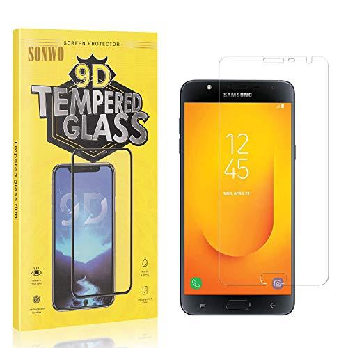 1 Stück Displayschutzfolie Kompatibel mit Galaxy J7 DUO, SONWO Panzerglas Schutzfolie für Samsung Galaxy J7 DUO...
