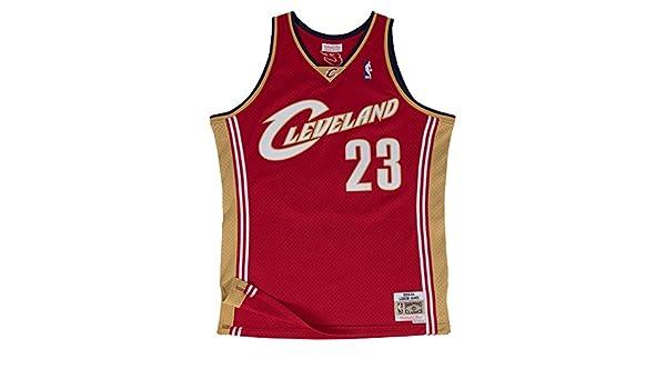 Mitchell & Ness Cleveland Cavaliers 23 LeBron James Swingman Camiseta Jersey (XXL): Amazon.es: Deportes y aire libre