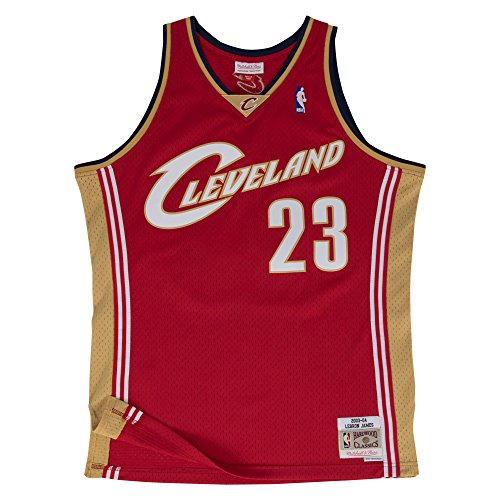 - Mitchell & Ness NBA Cleveland Cavaliers Lebron James Wine Throwback Jersey (Small)