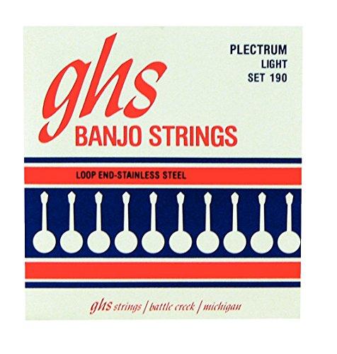 GHS 4-String Plectrum Banjo Stainless Steel 11-26 190