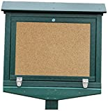 Frog Furnishings Hinged Message Center with One Side No Post , Small, Green