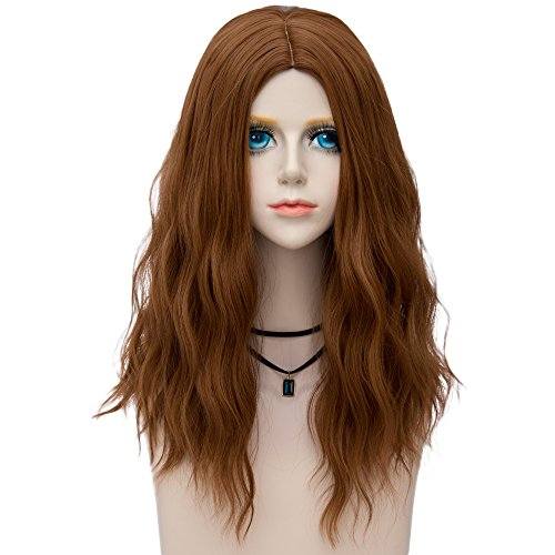 Miracle &Forest Lady Collection Heat Resistant Synthetic Wigs Long Curly Women Cosplay Wig (60cm, Brown F20)