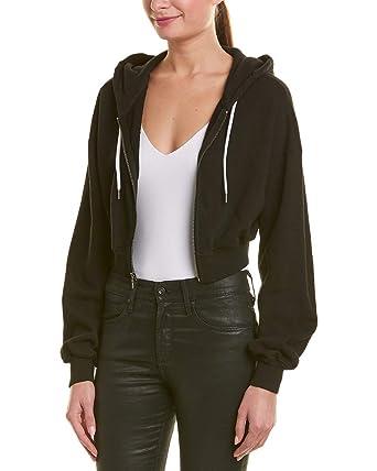 561b5308e alice + olivia Womens Barron Crop Jacket, S, Black at Amazon Women's ...
