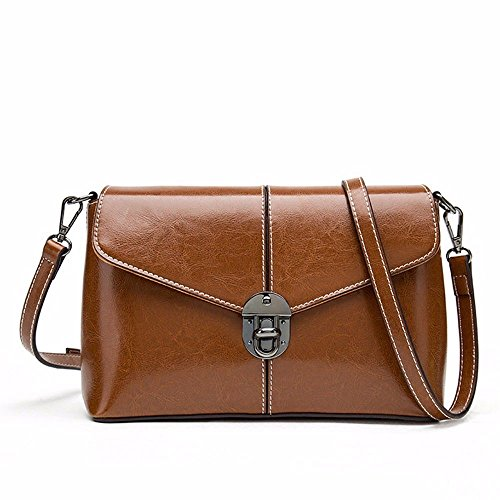 Small Wax Oil Shoulder Diagonal Ladies 2018 New Bag Bag Square Female w1fSSn