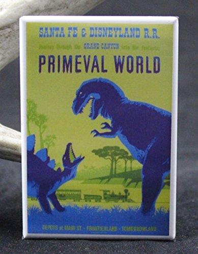 Primeval World Santa Fe Railroad Refrigerator Magnet. Disneyland