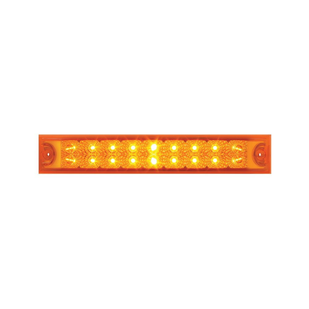 Grand General 76985 Amber 12'' Double Row Spyder 18-LED Park/Turn/Clearance Sealed Light Bar
