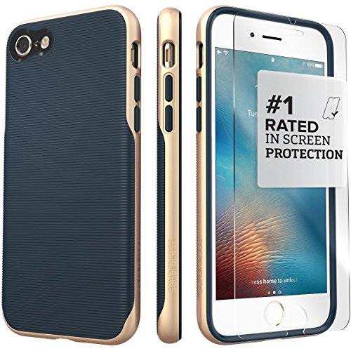 iPhone 7 Case, (Blue Gold) SaharaCase Trend Protective for sale  Delivered anywhere in Canada