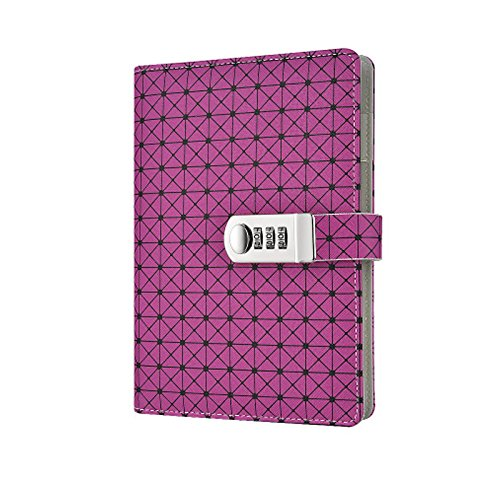 Yakri A5 Faux Leather Notebook Hard Cover Diary Book Best for Gifts TPN094 (Purple) by Yakri