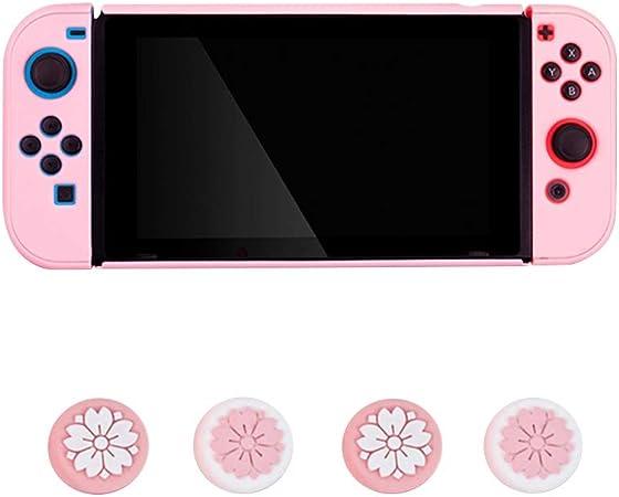 FKYNB Funda de Silicona for Nintendo Switch, Funda de Agarre esmerilada Funda de Cuerpo Completo Antideslizante con Tapas de Joystick (Color : Pink 2): Amazon.es: Hogar