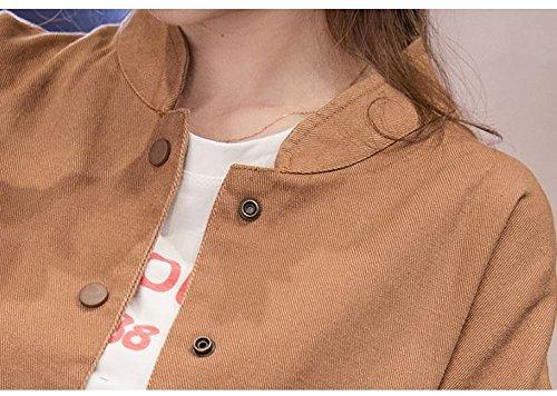 Veste Kaki Mince Automne Pour Homme Femme Coat Manteaux Cardigan Jacket Badge Bomber Casual Loose fxOq1w8