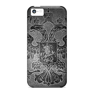 Iphone 5c Case Cover - Slim Fit Tpu Protector Shock Absorbent Case (russian Eagle)