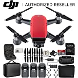 DJI Spark Portable Mini Drone Quadcopter Fly More Combo Portable Bag Shoulder Travel Case Bundle Extra Battery (Lava Red)