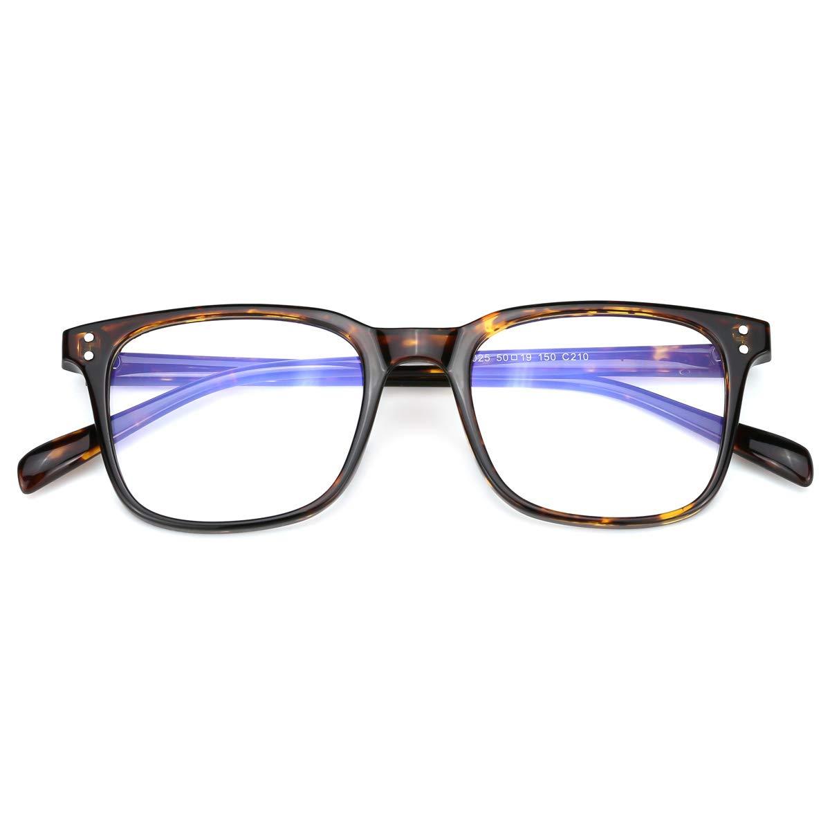 Mimoeye Classic Design Full Rimmed Blue Light Blocking Eyeglasses Non-Prescription Glasses, Whisky Toroise by Mimoeye