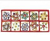 ARTIST Chinese Handmade Cloisonne Christmas Snowflake Ornament 10pcs