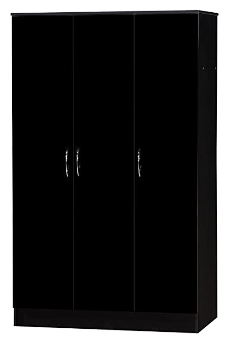 Alpha negro brillante de dos tonos Triple armario 3 puerta adulto ...