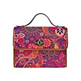 Bohemian Floral Hippie Waterproof Canvas Tote Crossbody Bag Shoulder Messenger Bags