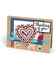 Sizzix 660640 Doodle Hearts Interchangeable Stamps by Jen Long, Clear