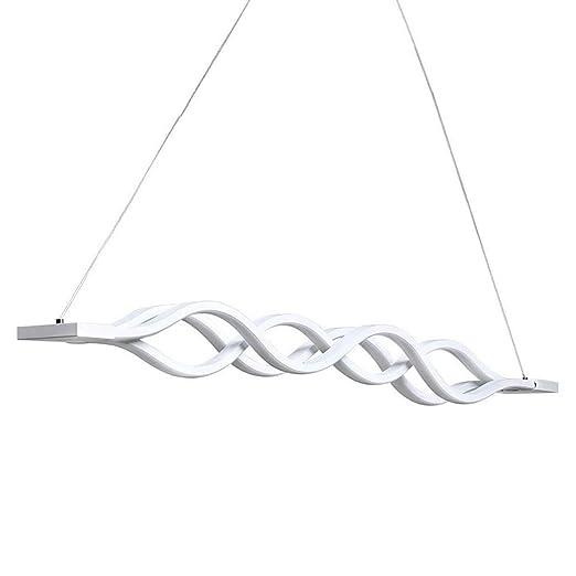 kjlars LED Lámpara colgante Comedor Lámpara de techo Salón Cocina – Lámpara LED de techo moderna lámpara de aluminio colgante con 3 ondas, altura ...