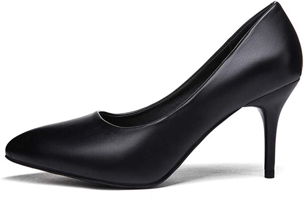 TONMOON Womens Closed Pointed Toe Pumps Heels Office Lady Wedding Party Dress Heeded Shoes